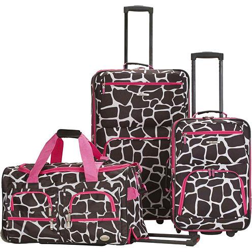 Rockland Spectra 3-pc. Luggage Set-Animal Print