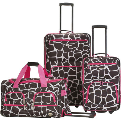 Rockland Spectra 3-pc. Luggage Set-Animal Print