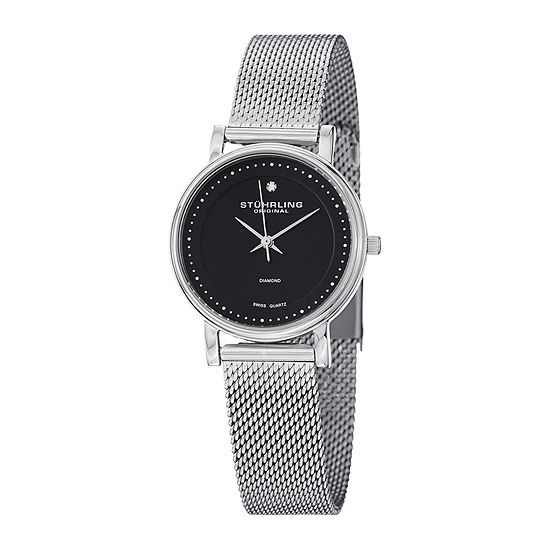 Stuhrling Original Womens Stainless Steel Mesh Watch 734602