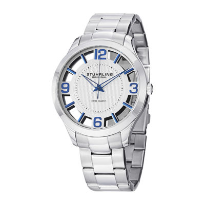 Stührling® Original Mens Stainless Steel Spoke-Style Watch 8123.05