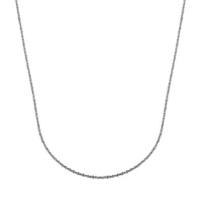 "14K White Gold 22"" Brilliant Chain"