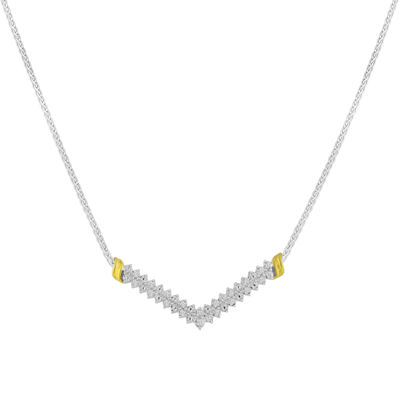 1/10 CT. T.W. Diamond Chevron Necklace
