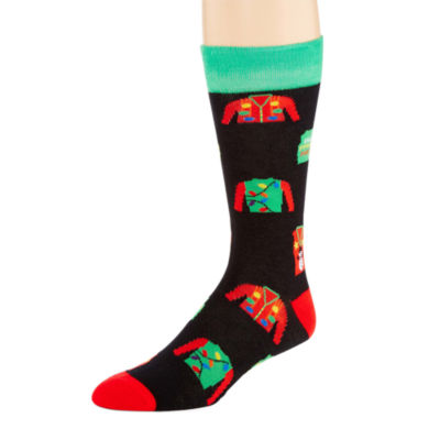 Reckless® Mens Christmas Crew Socks