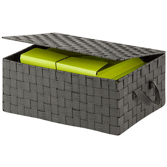 Honey-Can-Do® Hinged Lid Woven Storage Box