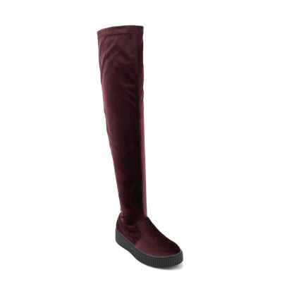 Olivia Miller Lynbrook Womens Over the Knee Boots