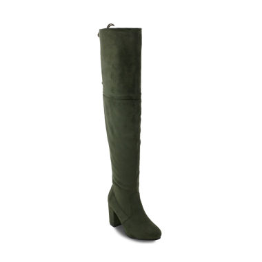 Olivia Miller Holtsville Womens Over the Knee Boots