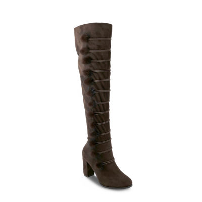 Olivia Miller Terryville Womens Over the Knee Boots
