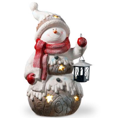 21I Lighted Snowman Décor Piece