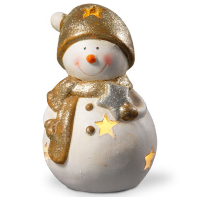 8 Lighted Holiday Snowman Decor