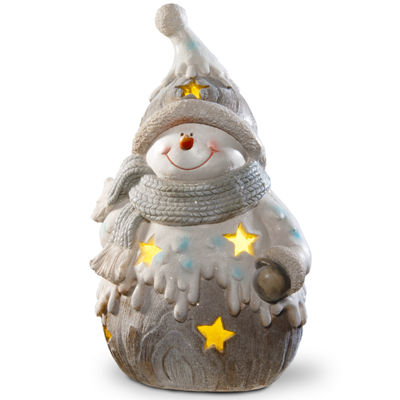 Lighted Happy Snowman Décor Piece
