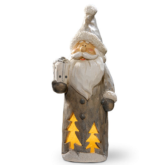Lighted Woodsman Santa Décor Piece