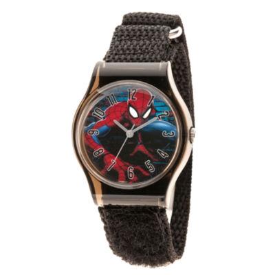 Spiderman Boys Black Strap Watch-Wma000226