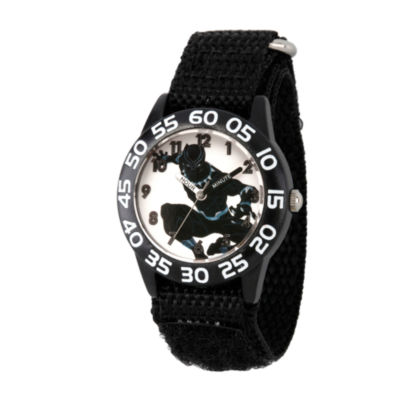 Avengers Boys Black Strap Watch-Wma000227