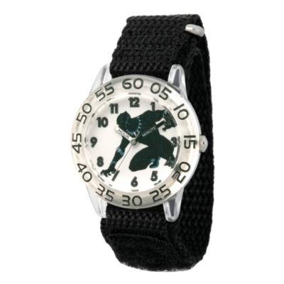 Avengers Boys Black Strap Watch-Wma000228