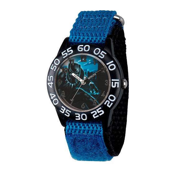 Time Teacher Black Panther Boys Blue Strap Watch-Wma000229