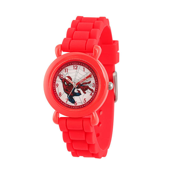 Marvel Spiderman Boys Red Strap Watch-Wma000231