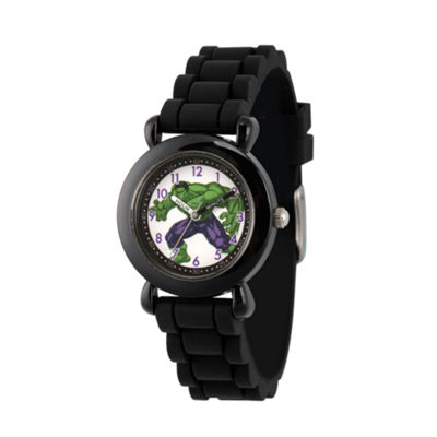 Avengers Boys Black Strap Watch-Wma000232