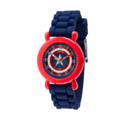 Avengers Boys Blue Strap Watch-Wma000234