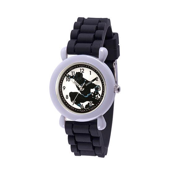 Time Teacher Black Panther Boys Black Strap Watch-Wma000235