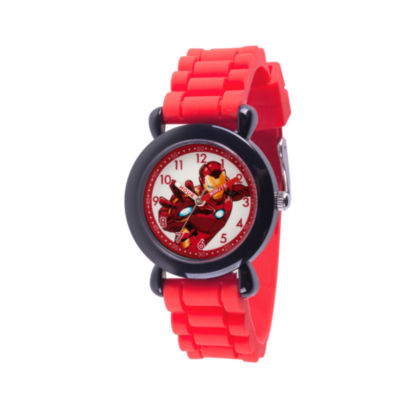 Avengers Boys Red Strap Watch-Wma000236