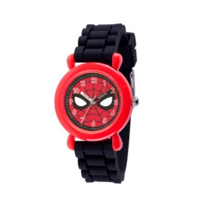 Spiderman Boys Black Strap Watch-Wma000238