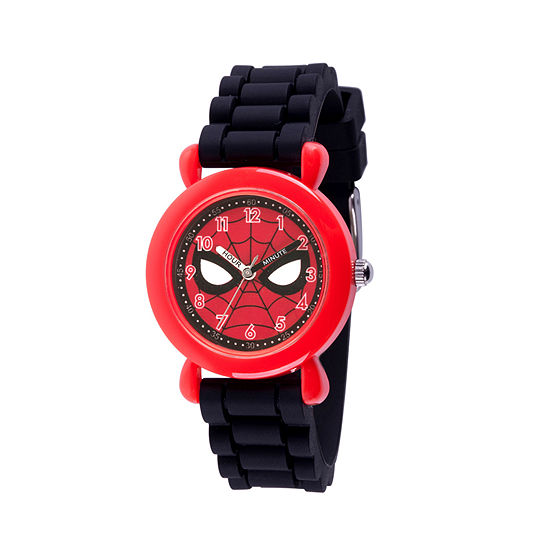 Spiderman Boys Black Strap Watch-Wma000238