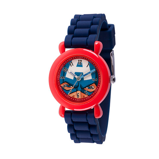 Marvel Avengers Boys Blue Strap Watch-Wma000240