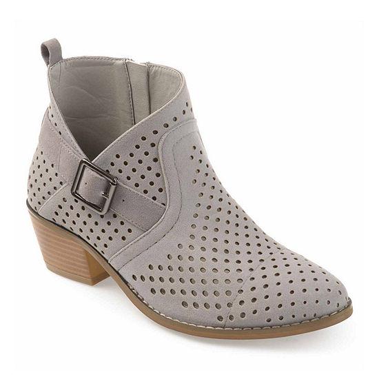 Journee Collection Womens Jules Booties Block Heel