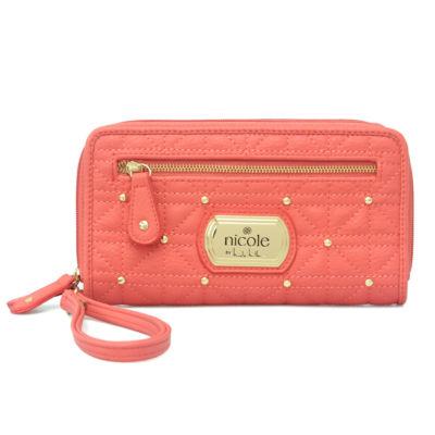 Nicole By Nicole Miller Cara Double Zip Zip Around Wallet