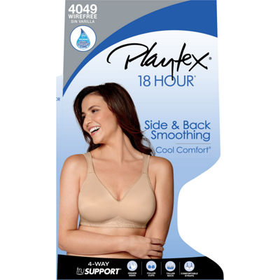 Playtex 18 Hour Side & Back Smoothing With Cool Comfort™ Wireless Full Coverage Bra-4049