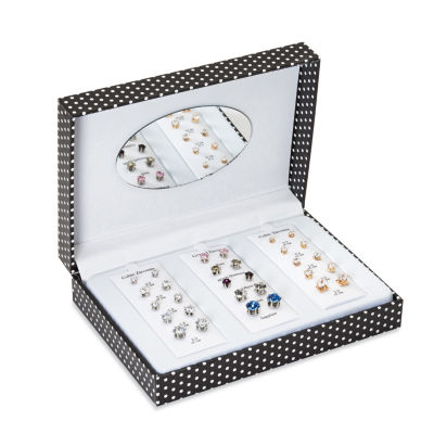 Mixit Mega Box Lab Created Clear Earring Sets