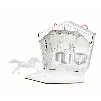 Breyer Stablemates Paint Spirit And Fold Up Stable