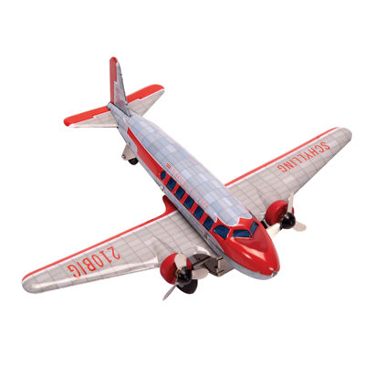 Schylling Dc-3 Airplane W/ Spinning Propeller