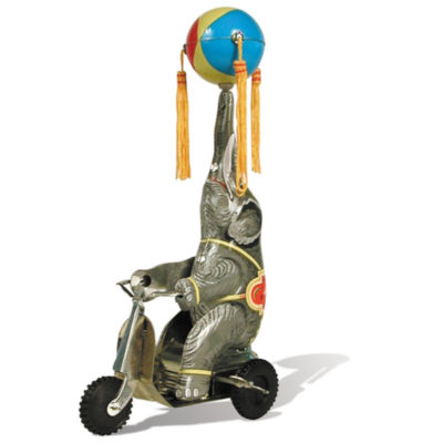 Schylling Tin Elephant On Bike