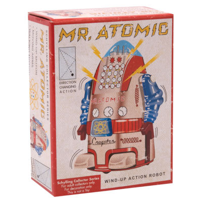 Schylling Vintage Mr. Atomic Robot 4In.
