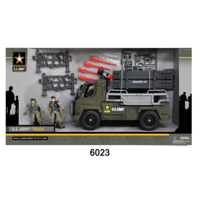 U.S. Army Battery Operated Truck W/ 2 Soldier Figures