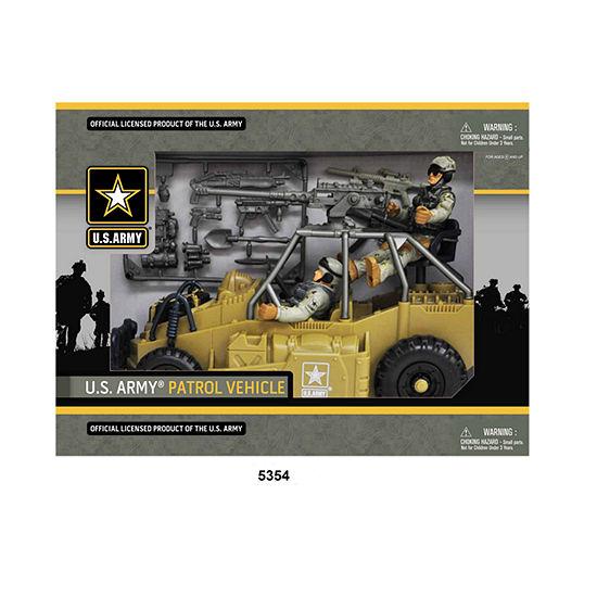 U.S. Army Desert Figure Playset w/ Patrol Vehicle