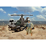 Us Army Figure Playset W/ Helicopter