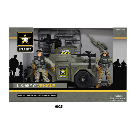 U.S. Army Green Vehicle Playset w/ Soldier Figures