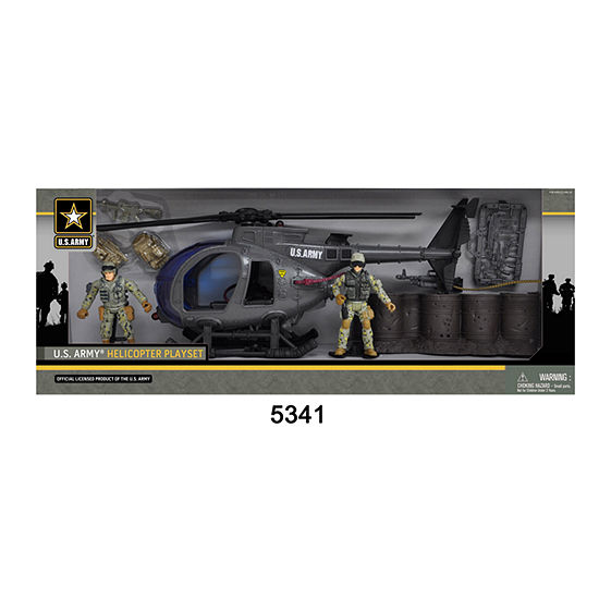 Us Army Helicopter Playset W/ 2 Soldier Figures