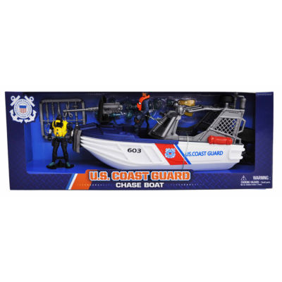 U.S. Coast Guard Chase Boat Playset w/ Figures