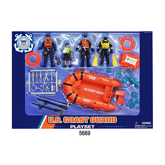 Us Coast Guard Playset W Figures