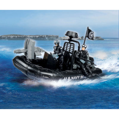U.S. Navy Seals Figure Combat Rubber Raiding Craft