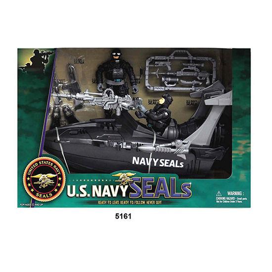 U.S. Navy Seals Figure Playset W/ Speedboat