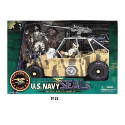U.S. Navy Seals Figure Playset W/ Urban Patrol Vehicle