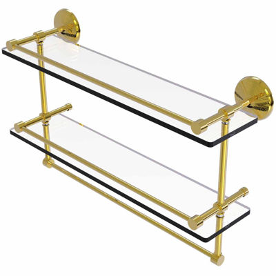 Allied Brass Dottingham Collection 18 Inch Towel Bar With Integrated Hooks
