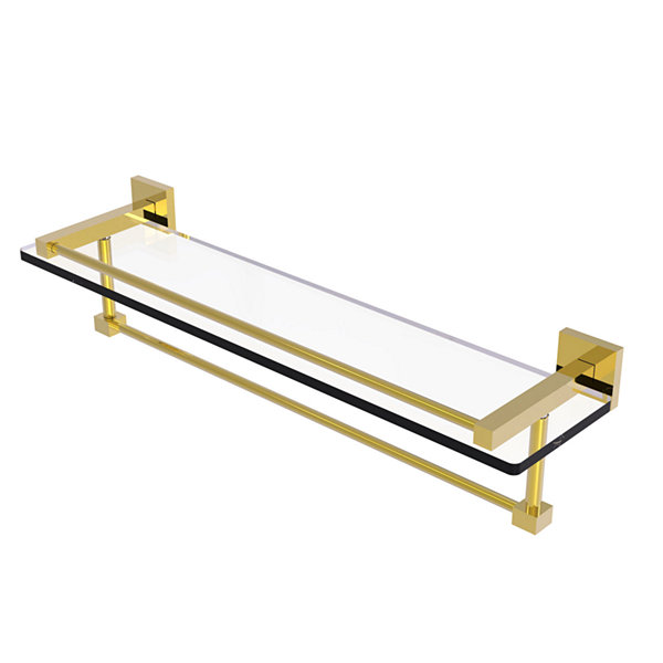 Allied Brass Montero Collection 22 IN Gallery Glass Shelf With Towel Bar