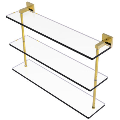 Allied Brass Montero Collection 22 IN Triple Tiered Glass Shelf