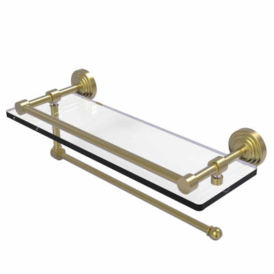 Allied Brass Waverly Place Collection Paper TowelHolder With 16 IN Gallery Glass Shelf