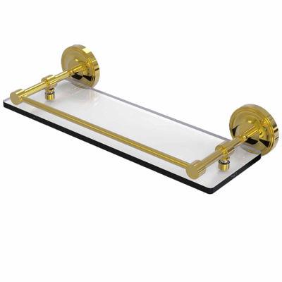 Allied Brass Prestige Regal 16 IN Tempered Glass Shelf With Gallery Rail
